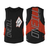 O'Neill Gooru Tech Comp Adult Life Vest 2016, Black-Neon Red, medium