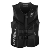 O'Neill Reactor USCG Adult Life Vest 2017, Black-Black-Black, medium