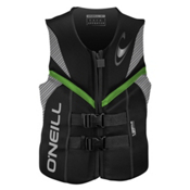 O'Neill Reactor USCG Adult Life Vest 2017, Black-Lunar-Dayglo, medium