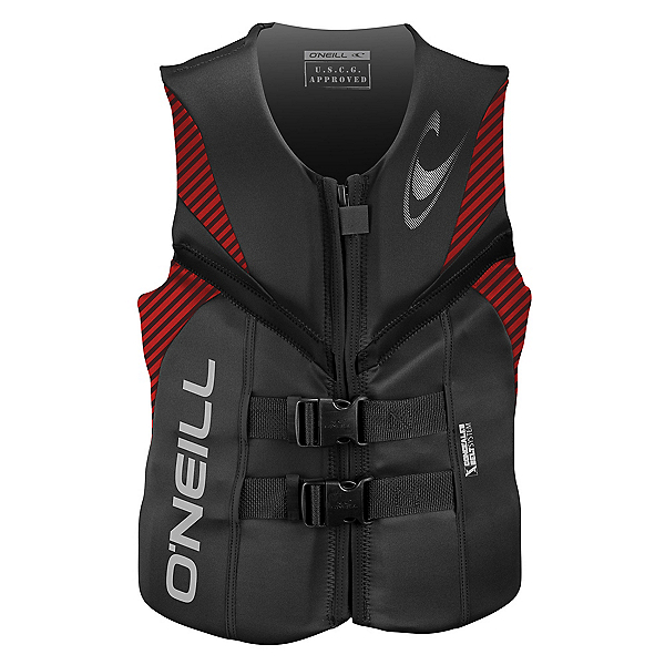 O'Neill Reactor USCG Adult Life Vest 2017, Graphite-Red-Black, 600