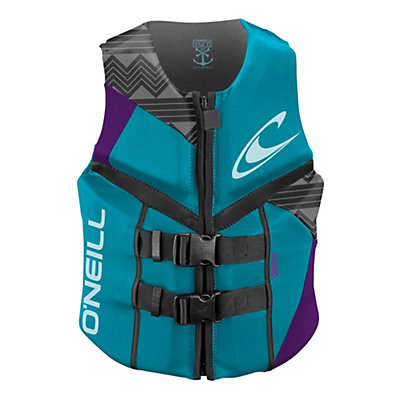 O'Neill Reactor USCG Womens Life Vest 2017, Turquoise-Ultraviolet-Graphite, viewer