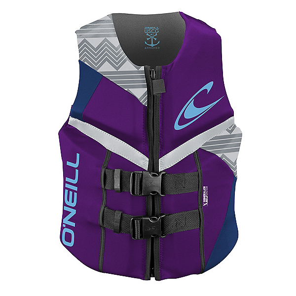 O'Neill Reactor USCG Womens Life Vest 2017, Ultraviolet-Pacific-White, 600