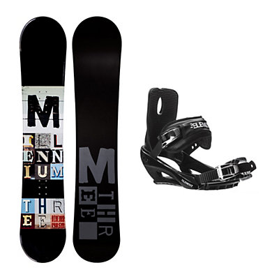 Millenium 3 Discord Black Stealth 3 Snowboard and Binding Package, , viewer