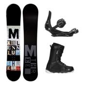 Millenium 3 Discord Black ST-1 Complete Snowboard Package, , medium