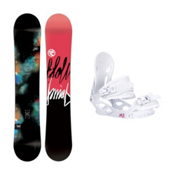 Flow Jewel Solstice Womens Snowboard and Binding Package, , medium