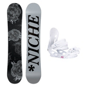 Niche Minx Solstice 4 Womens Snowboard and Binding Package, , medium