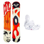 Roxy Ollie Pop C2BTX Solstice 4 Womens Snowboard and Binding Package, , medium