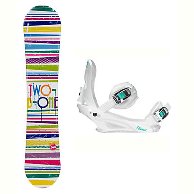 2B1 Paint White Solstice 4 Womens Snowboard and Binding Package, , viewer