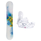 Black Fire Special Lady S Solstice 4 Womens Snowboard and Binding Package, , medium