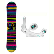 2B1 Paint Black Solstice 4 Womens Snowboard and Binding Package, , medium