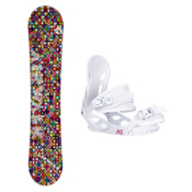 Airwalk Kaleidoscope White Solstice 4 Womens Snowboard and Binding Package, , medium