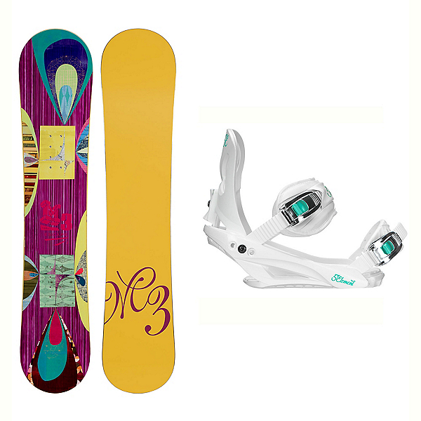 Millenium 3 Escape Solstice 4 Womens Snowboard and Binding Package, , 600