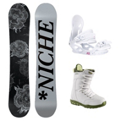 Niche Minx Sapphire 3 Womens Complete Snowboard Package, , medium