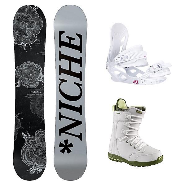 Niche Minx Sapphire 3 Womens Complete Snowboard Package, , 600