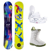 Roxy Ally LN BTX Sapphire Womens Complete Snowboard Package, , medium