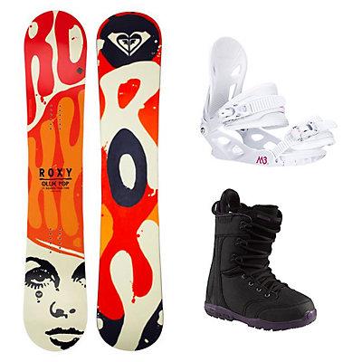Roxy Ollie Pop C2BTX Sapphire Womens Complete Snowboard Package, , viewer