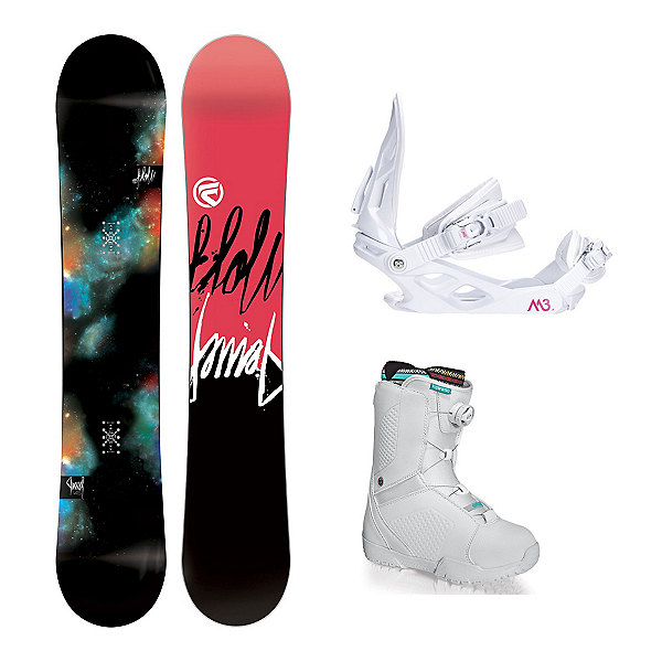 Flow Jewel Hyku Boa Womens Complete Snowboard Package, , 600