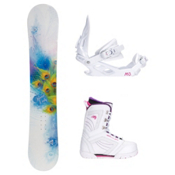 Black Fire Special Lady S Cosmo Womens Complete Snowboard Package, , medium