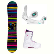 2B1 Paint Black Cosmo Womens Complete Snowboard Package, , medium