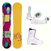 Millenium 3 Escape Cosmo Womens Complete Snowboard Package, , medium