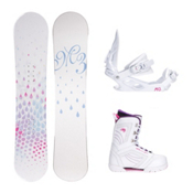 Millenium 3 Halo Cosmo Womens Complete Snowboard Package, , medium