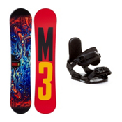 Millenium 3 Stagger 4 Stealth Kids Snowboard and Binding Package, , medium