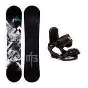 Millenium 3 Source Stealth Kids Snowboard and Binding Package, , medium