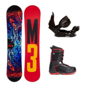 Millenium 3 Stagger 4 Militia 4 Kids Complete Snowboard Package, , medium