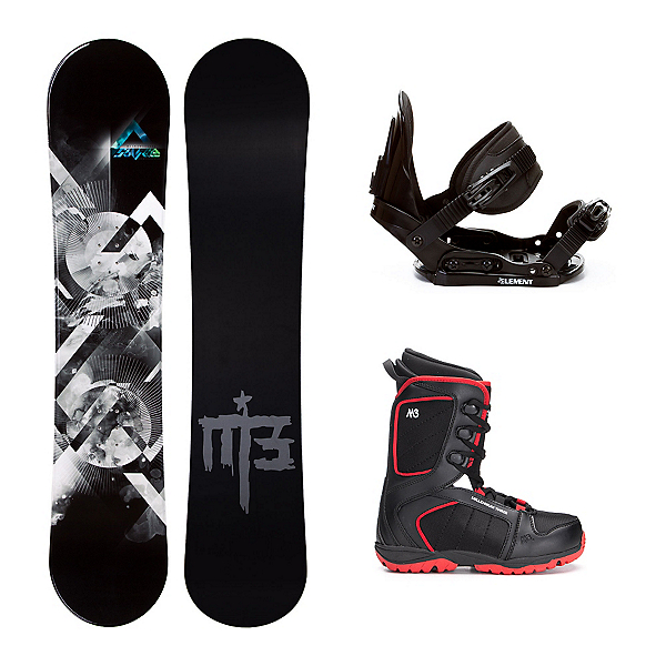 Millenium 3 Source Militia 4 Kids Complete Snowboard Package, , 600