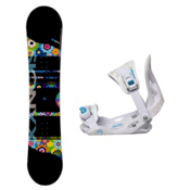Sionyx Hippy Solstice Girls Snowboard and Binding Package, , medium