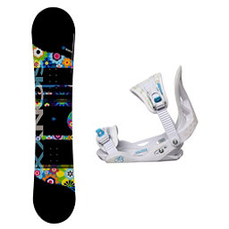 Sionyx Hippy Solstice Girls Snowboard and Binding Package, , 256