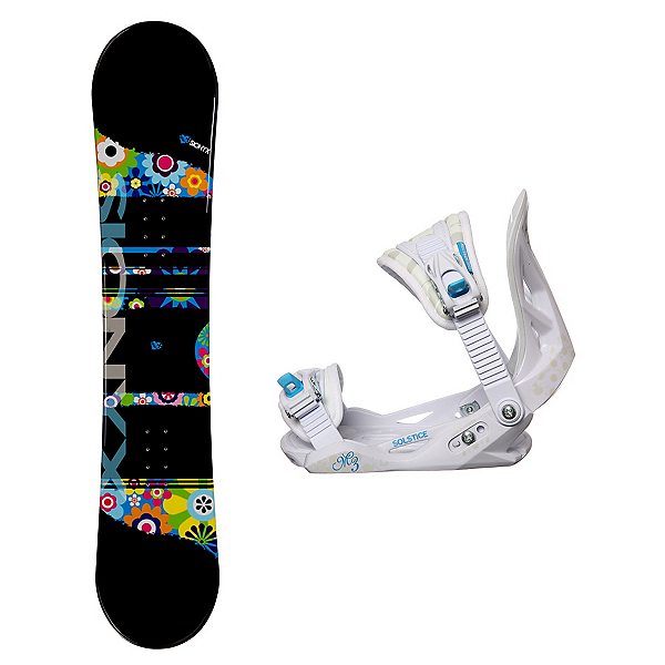 Sionyx Hippy Solstice Girls Snowboard and Binding Package, , 600
