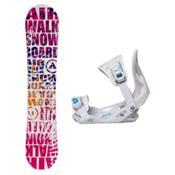 Airwalk Laser Pink Solstice Girls Snowboard and Binding Package, , medium