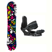 Joyride Letters Black Solstice Girls Snowboard and Binding Package, , medium