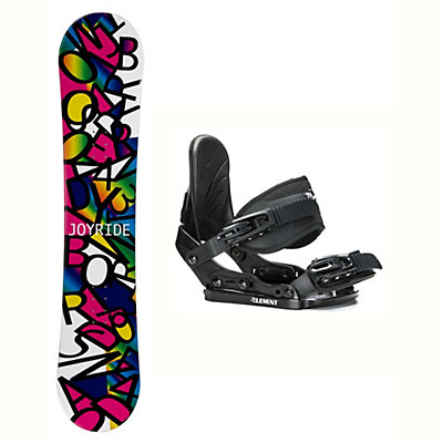 Joyride Letters Black Solstice Girls Snowboard and Binding Package, , viewer