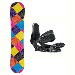Joyride Paisley Solstice Girls Snowboard and Binding Package, , 256