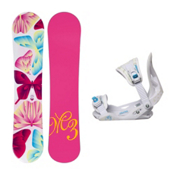 Millenium 3 Free Solstice Girls Snowboard and Binding Package, , medium
