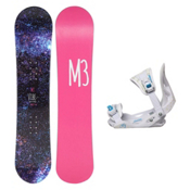 Millenium 3 Vibe Solstice Girls Snowboard and Binding Package, , medium