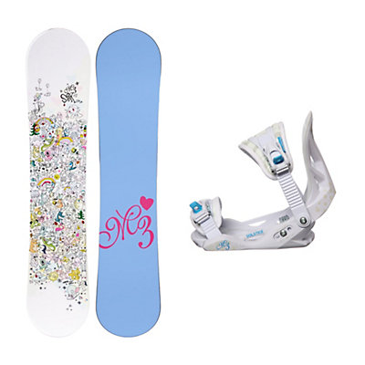 Millenium 3 Star Solstice Girls Snowboard and Binding Package, , viewer
