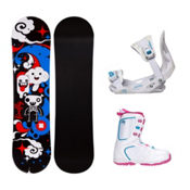 Firefly Explicit Black Venus XIII Girls Complete Snowboard Package, , medium