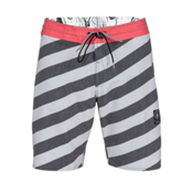 Volcom Stripey Slinger Board Shorts, Cool Grey, medium