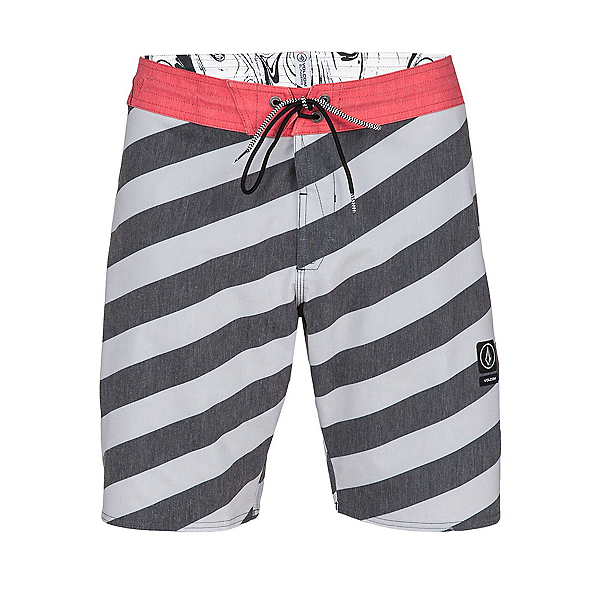 Volcom Stripey Slinger Mens Board Shorts, Cool Grey, 600
