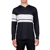 Volcom 3 Quarta Long Sleeve Mens Rash Guard, Black, medium