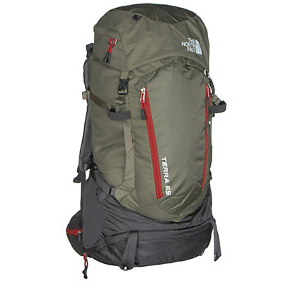 The North Face Terra 65 Backpack, Mountain Moss-Pompeian Red, viewer