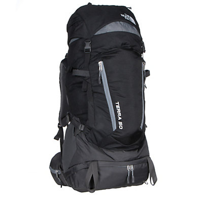The North Face Terra 50 Backpack, TNF Black-Monument Grey, viewer
