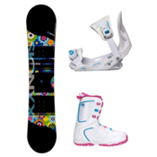 Sionyx Hippy Venus XIII Girls Complete Snowboard Package, , medium