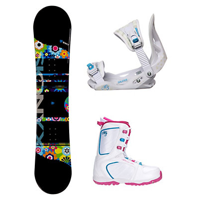 Sionyx Hippy Venus XIII Girls Complete Snowboard Package, , viewer