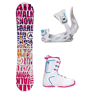 Airwalk Laser Pink Venus XIII Girls Complete Snowboard Package, , viewer