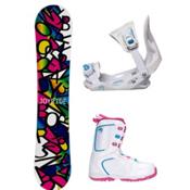Joyride Letters Black Venus XIII Girls Complete Snowboard Package, , medium