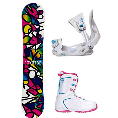 Joyride Letters Black Venus XIII Girls Complete Snowboard Package, , viewer